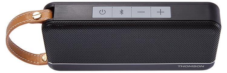 Enceinte sans fil portable Thomson (noir mat) - Visuel#1