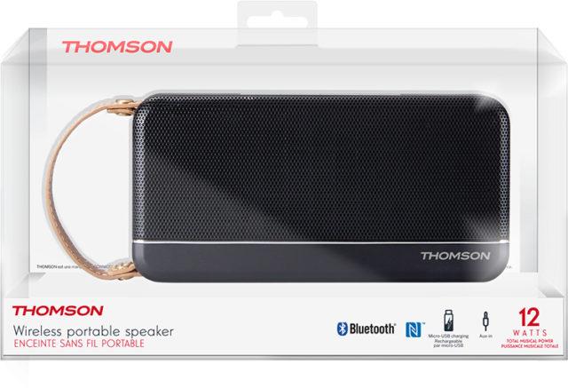 Enceinte sans fil portable Thomson (noir mat) – Visuel#2tutu