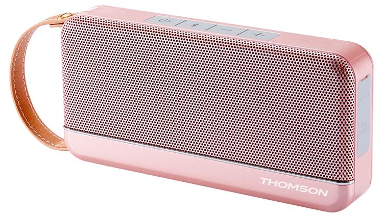 Enceinte sans fil portable Thomson (rose métalisé) - Visuel