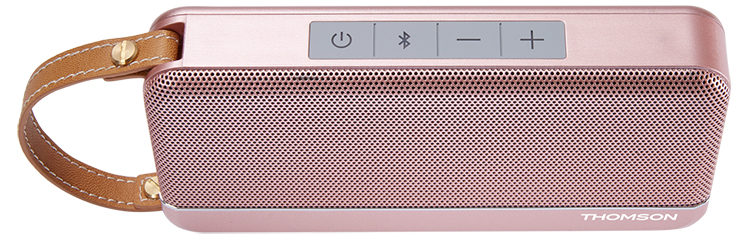 Enceinte sans fil portable Thomson (rose métalisé) - Visuel#1
