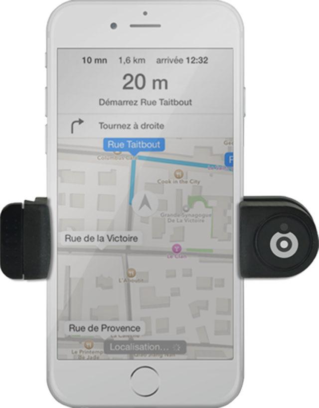 Support voiture pour smartphones (noir) - Packshot