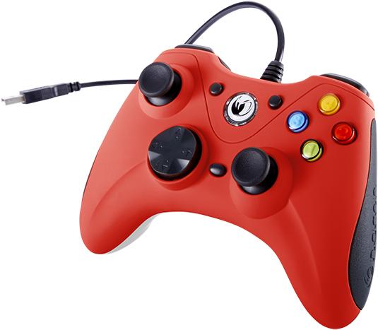 Manette de jeu PC (Rouge) - Visuel