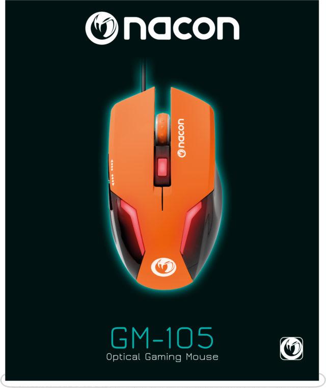 Souris optique Nacon (Orange) – Visuel#1
