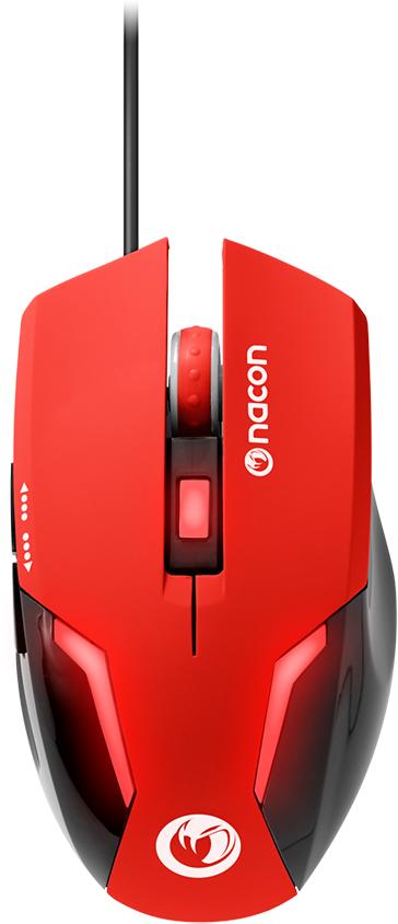 Souris optique Nacon (Rouge) – Visuel