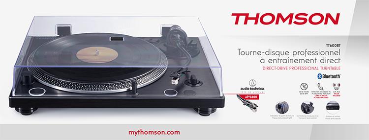 Tourne-disques professionel à entraînement direct THOMSON TT600BT - Visuel#2tutu#4tutu#6tutu