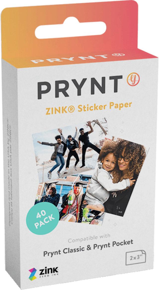 Recharge de 40 papiers photos PRYPKTPAP PRYNT – Packshot
