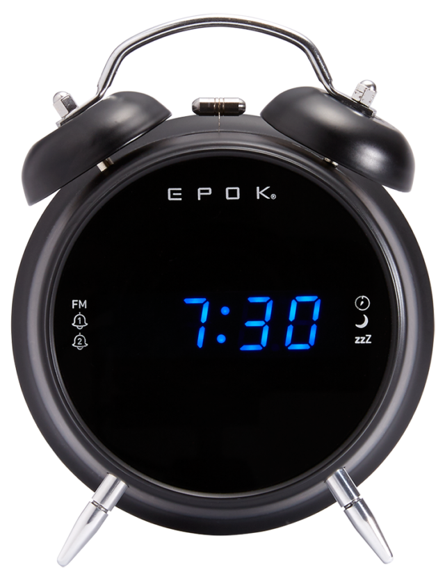 Radio réveil double alarme (noir) RR90EPOKN EPOK® BIGBEN - Packshot