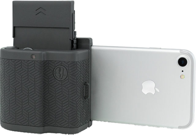 Imprimante de poche connectique ligthning (gris foncé) PRYPKTIGRA PRYNT – Visuel