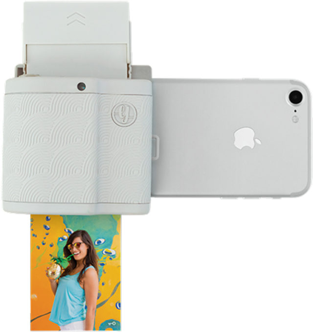 Imprimante de poche connectique ligthning (gris) PRYPKTIGRI PRYNT – Visuel