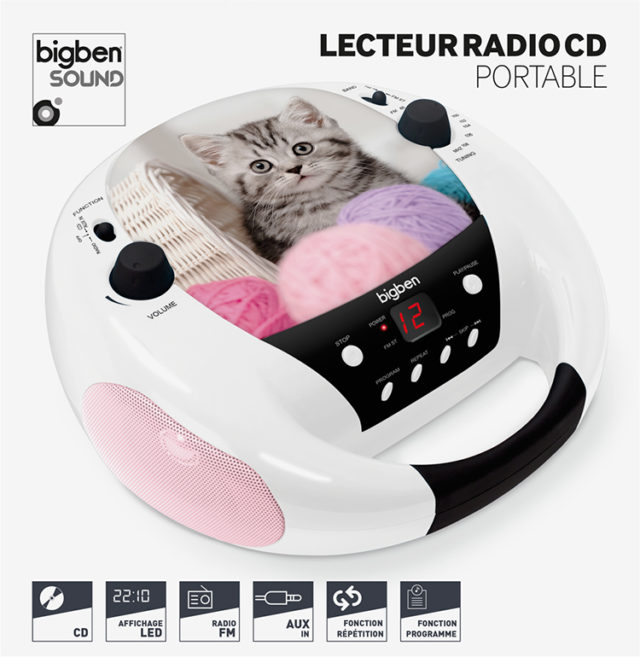 Lecteur CD CD52CATS3 BIGBEN – Visuel#1