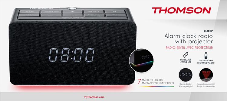 Radio réveil avec projecteur CL300P THOMSON - Visuel#2tutu#4tutu#5