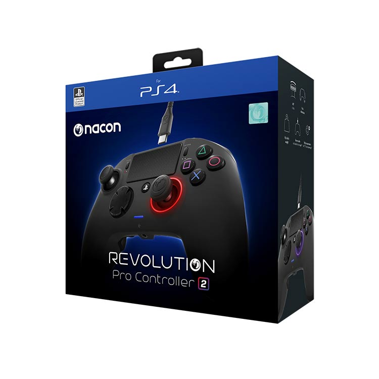 Manette Revolution Pro Controller 2 sous licence officielle PlayStation® 4 PS4OFPADREV2FRNL NACON - Visuel#1