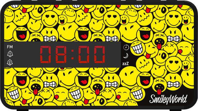 Radio réveil doucle alarme RR16SMILEY Smiley© – Visuel