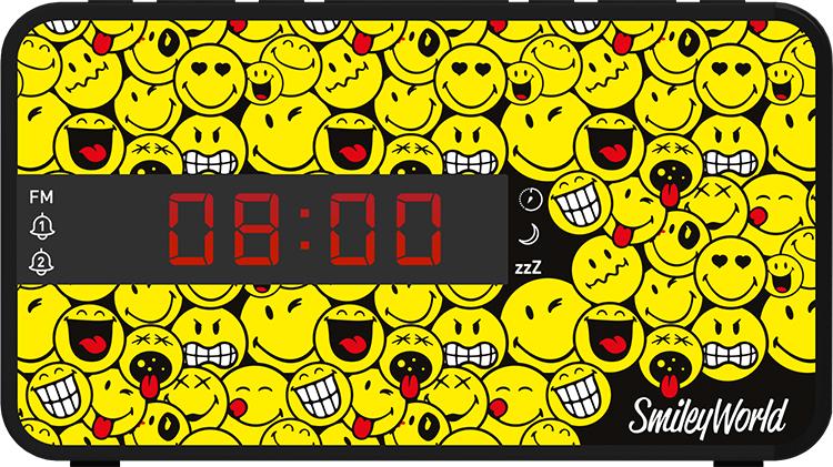 Radio réveil doucle alarme RR16SMILEY Smiley© - Visuel