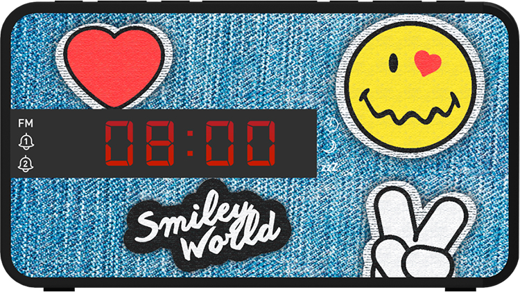 Radio réveil doucle alarme RR16SMILEY Smiley© - Visuel#1