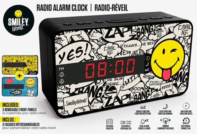 Radio réveil doucle alarme RR16SMILEY Smiley© – Visuel#2tutu