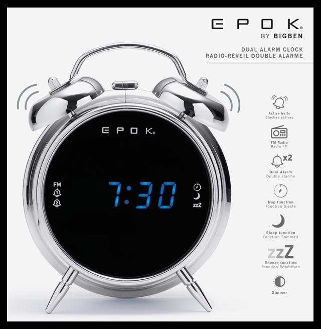 Radio réveil double alarme (argent) RR90EPOKN EPOK® BIGBEN – Visuel#2tutu