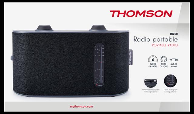 Radio portable 4 bandes (noir) RT250 THOMSON – Visuel#2tutu#3