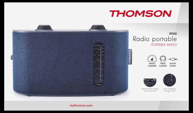 Radio portable 4 bandes (bleu) RT250 THOMSON – Visuel#2tutu#4tutu