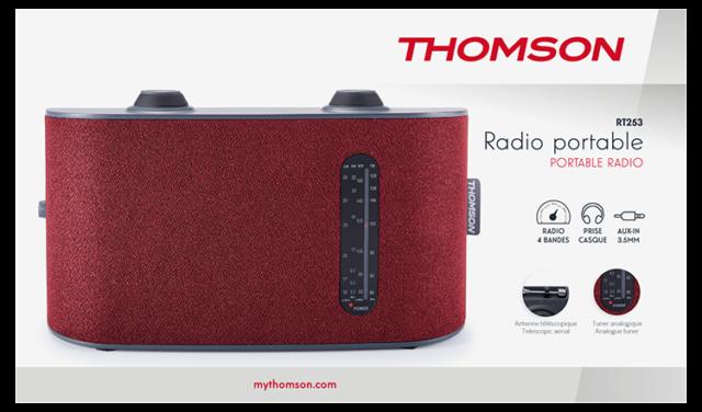 Radio portable 4 bandes (rouge) RT250 THOMSON – Visuel#2tutu#3