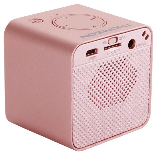 Enceinte sans fil portable (rose métalisé) WS01GM THOMSON – Visuel#1