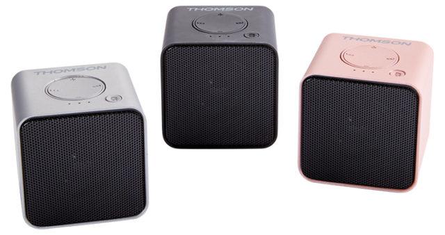 Enceinte sans fil portable (rose métalisé) WS01GM THOMSON – Visuel#2tutu#3