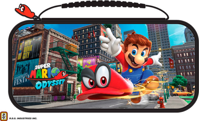 Pochette de transport deluxe officielle RDS™* «Mario Odyssey» pour Nintendo Switch™ –  NNS58 – Packshot