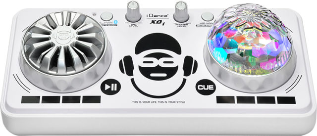 Platine de mixage avec effets lumineux XD1WH I DANCE - Packshot