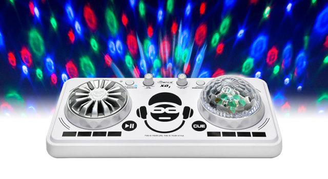 Platine de mixage avec effets lumineux XD1WH I DANCE – Visuel