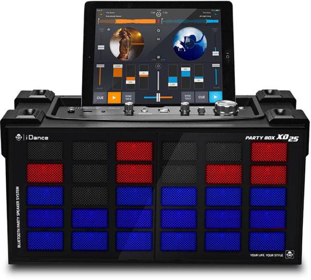 Système Bluetooth karaoke avec effet disco lumineux XD25 I DANCE – Visuel