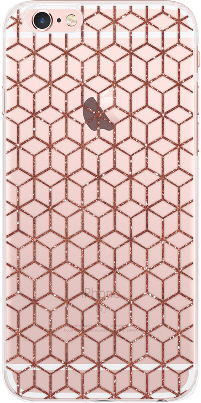 Coque semi-rigide Cubaro (transparente et rose pailleté) - Packshot