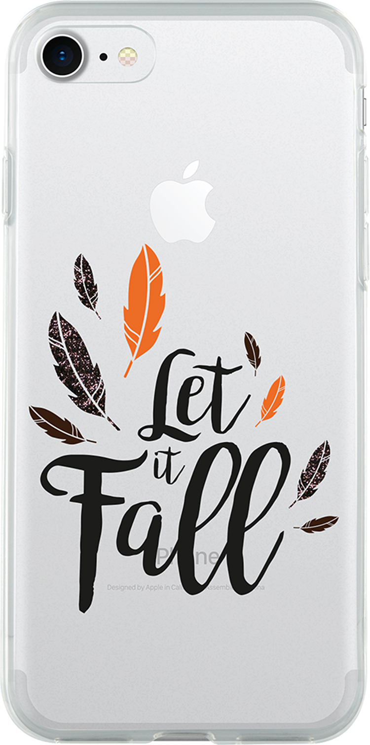 Coque semi-rigide transparente (let it fall) - Packshot