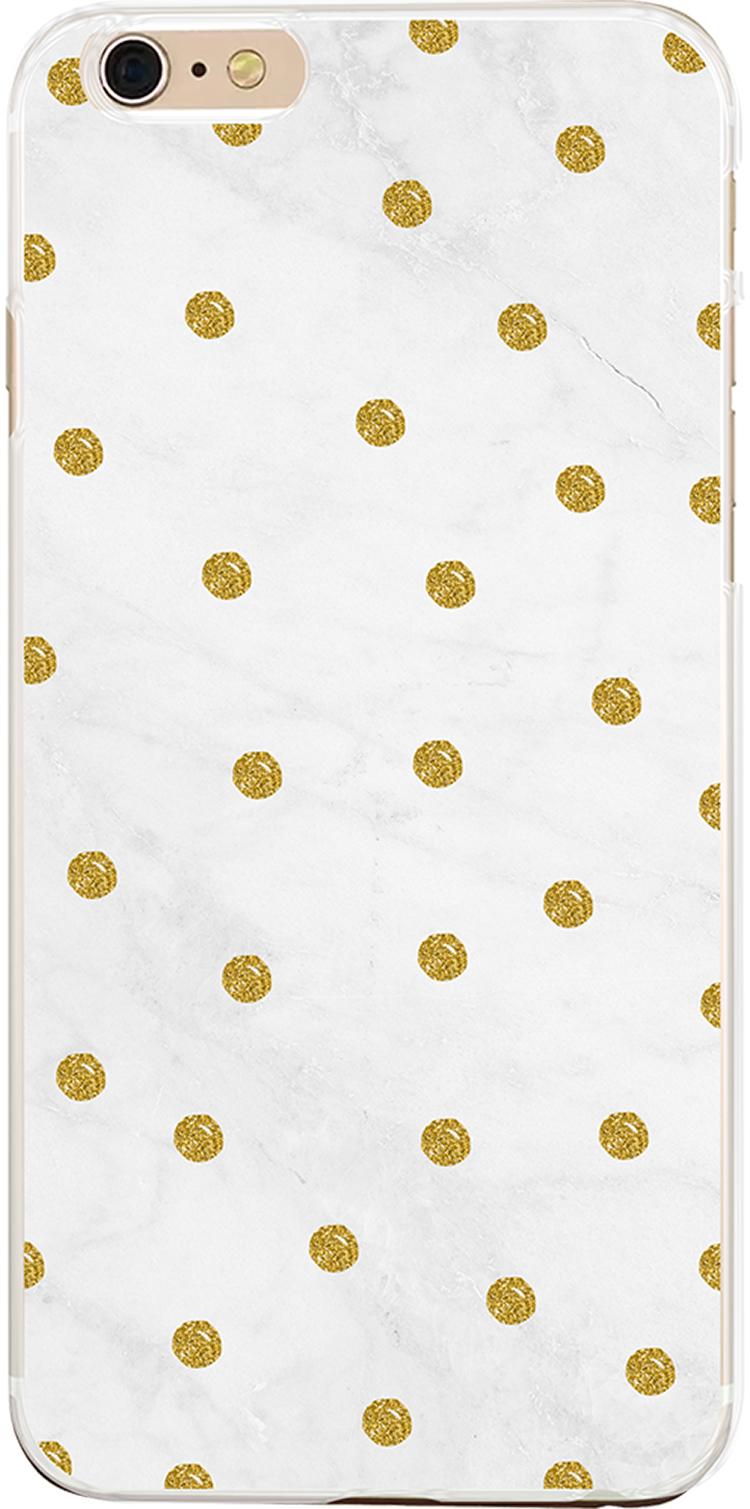 Coque semi-rigide dorée et blanche - Packshot