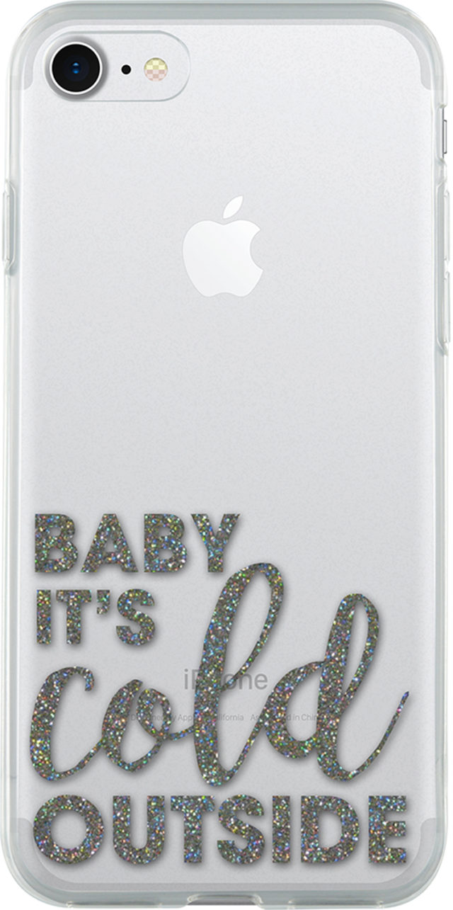 Coque semi-rigide transparente (Baby it's cold outside) - Packshot