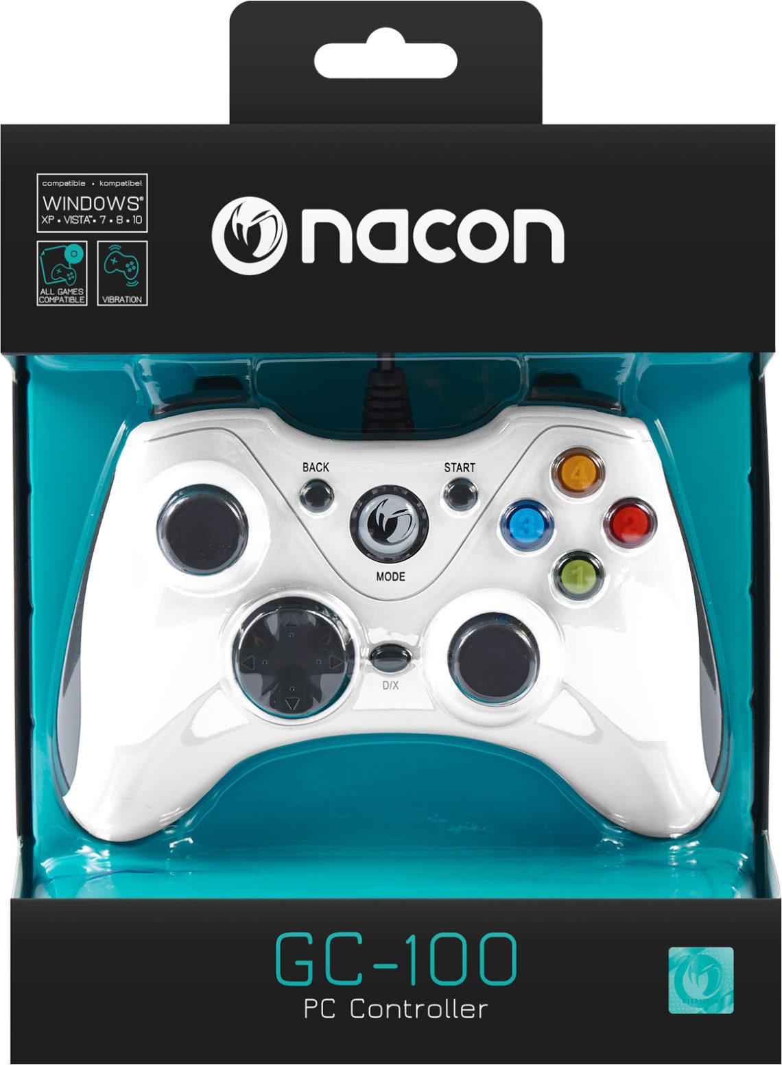 Manette de jeu PC (Bleu) PCGC-100WHITE Nacon - Visuel#2tutu