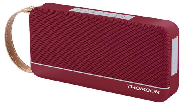 Enceinte sans fil portable (rouge metallisé) WS02RM THOMSON – Visuel