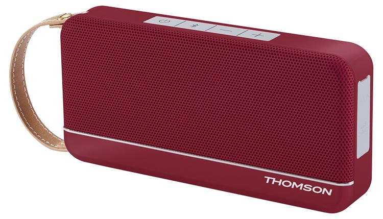 Enceinte sans fil portable (rouge metallisé) WS02RM THOMSON - Visuel