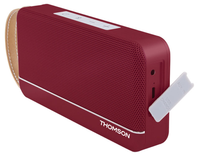 Enceinte sans fil portable (rouge metallisé) WS02RM THOMSON – Visuel#1