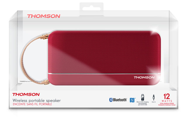 Enceinte sans fil portable (rouge metallisé) WS02RM THOMSON – Visuel#2tutu#3