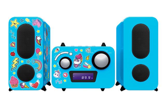 Mini-chaîne lecteur CD MCD11BLUNICORNSTICK BIGBEN KIDS – Packshot
