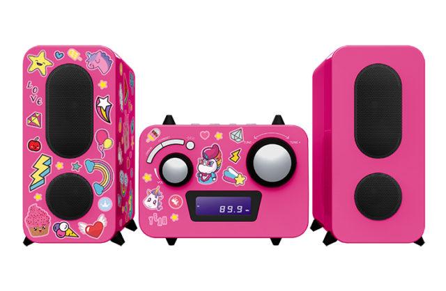 Mini-chaîne lecteur CD MCD11RSUNICORNSTICK BIGBEN KIDS – Packshot