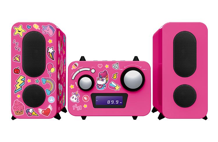 Mini-chaîne lecteur CD MCD11RSUNICORNSTICK BIGBEN KIDS - Packshot