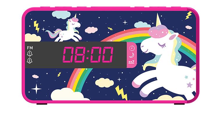 Radio réveil double alarme RR16UNICORN2 BIGBEN KIDS - Packshot