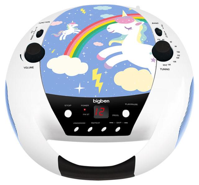 Lecteur CD portable avec microphone CD52UNICORNM2 BIGBEN KIDS – Visuel