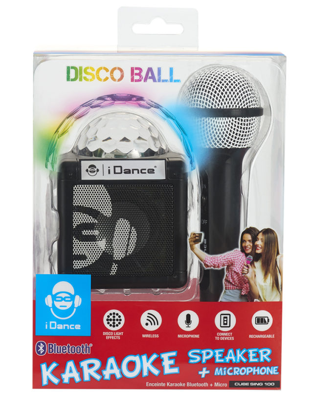 Enceinte Bluetooth avec boule disco CUBESING100BK I DANCE – Visuel