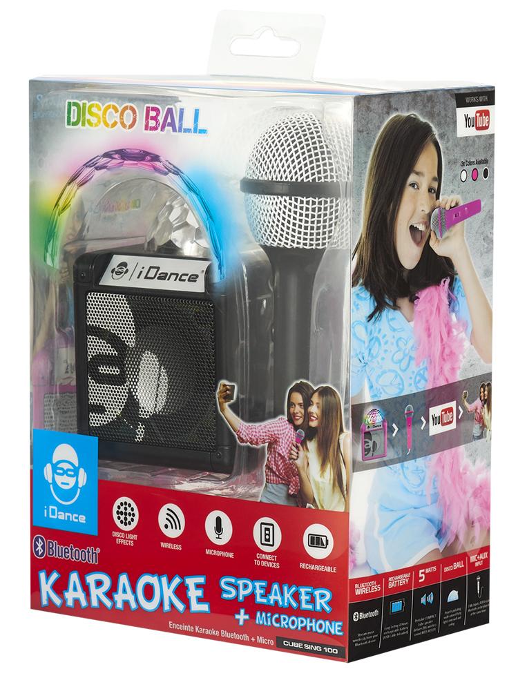 Enceinte Bluetooth avec boule disco CUBESING100BK I DANCE - Visuel#1