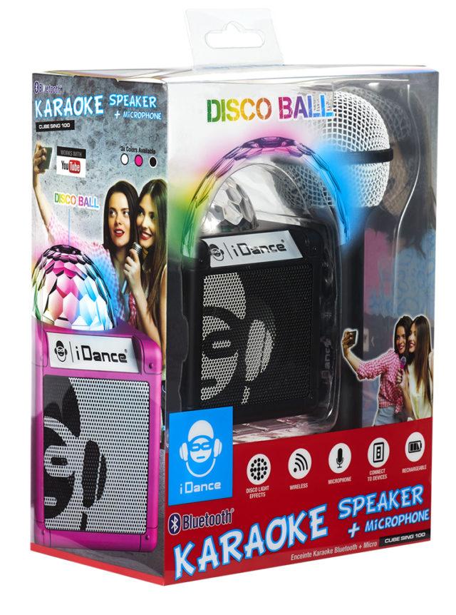 Enceinte Bluetooth avec boule disco CUBESING100BK I DANCE – Visuel#2tutu