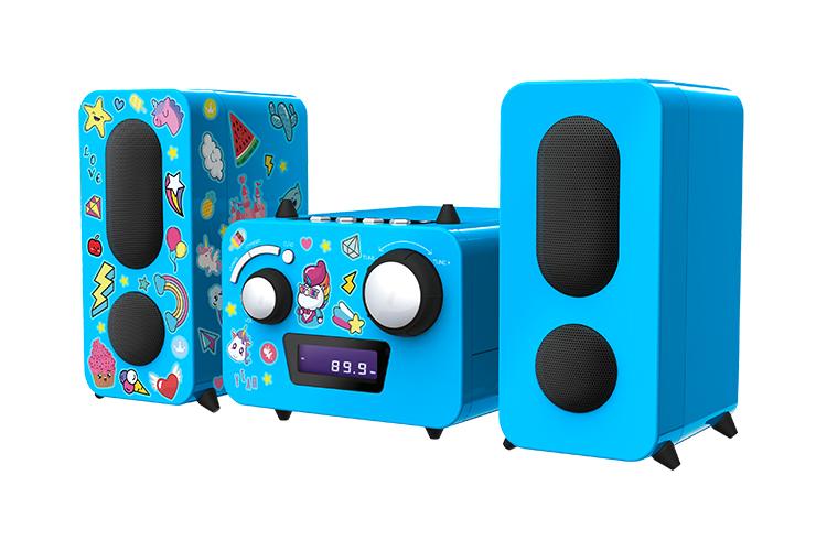 Mini-chaîne lecteur CD MCD11BLUNICORNSTICK BIGBEN KIDS - Visuel#2tutu#4tutu#6tutu