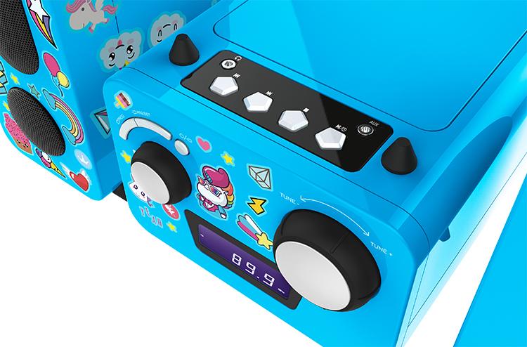 Mini-chaîne lecteur CD MCD11BLUNICORNSTICK BIGBEN KIDS - Visuel#1