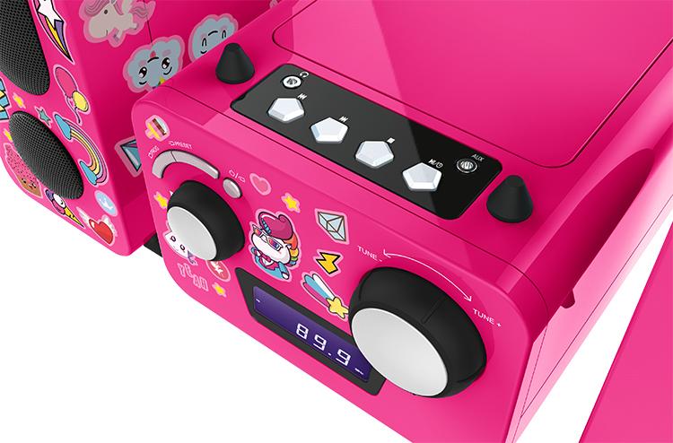 Mini-chaîne lecteur CD MCD11RSUNICORNSTICK BIGBEN KIDS - Visuel#2tutu#3